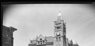 The original UofL Medical Department, at 1st and Chestnut streets, is said to be a hotbed of spiritual activity. Photo provided by Digital Collections, University Libraries.