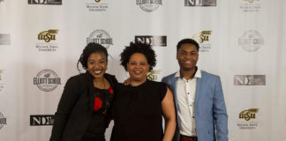 From left to right: Chinnel Williams (student), Tiffany Dillard-Knox (Coordinator), and Deontrey Yeargin (student)