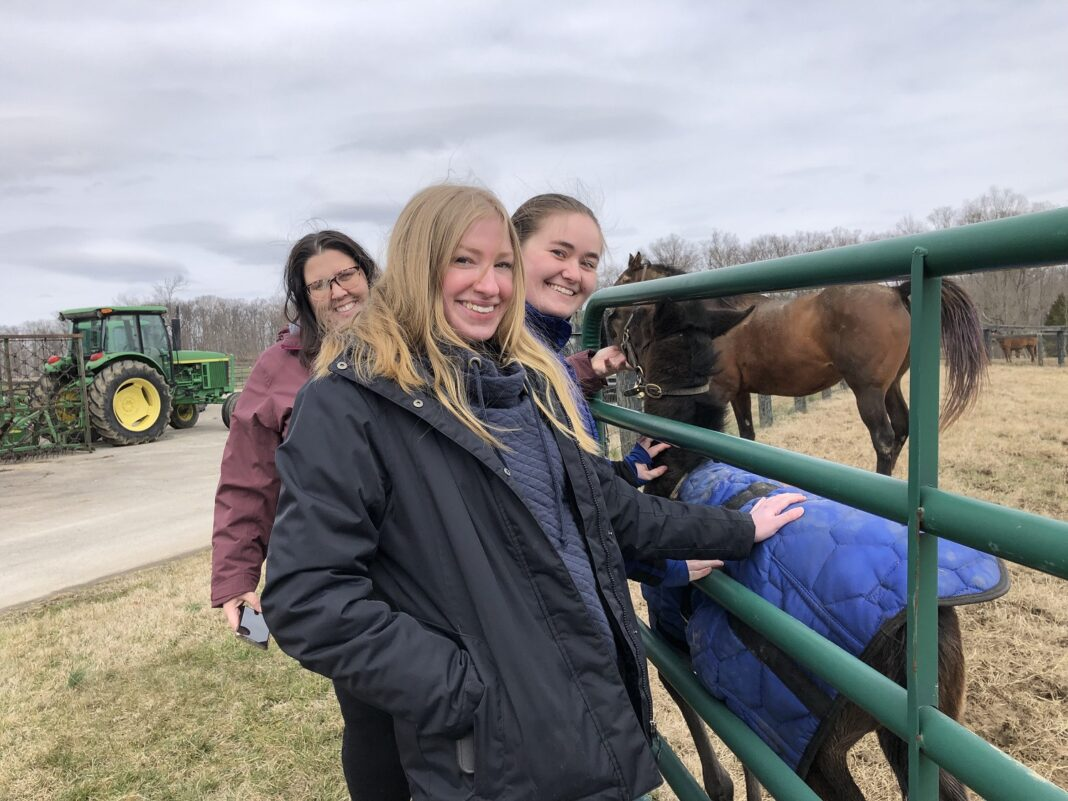 Students in the UofL Equine Industry Program.